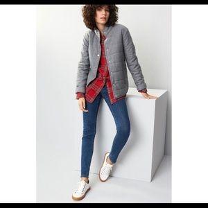 Nordstrom treasure & bond grey puffer jacket sz L